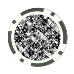 Black And White Patchwork Pattern Poker Chip Card Guard