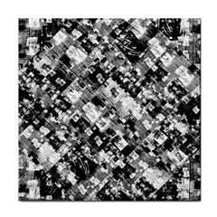Black And White Patchwork Pattern Face Towel
