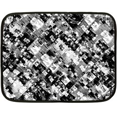 Black And White Patchwork Pattern Fleece Blanket (mini)