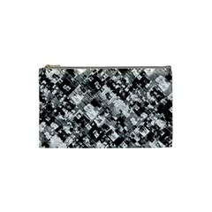 Black And White Patchwork Pattern Cosmetic Bag (small)  by dflcprints