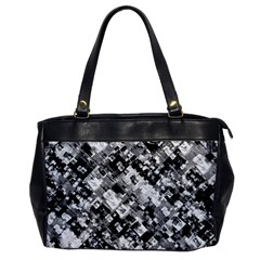 Black And White Patchwork Pattern Office Handbags