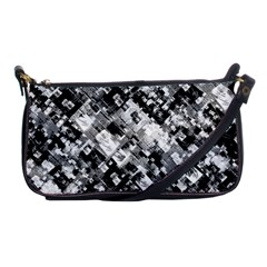 Black And White Patchwork Pattern Shoulder Clutch Bags