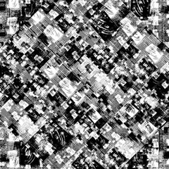 Black And White Patchwork Pattern Magic Photo Cubes