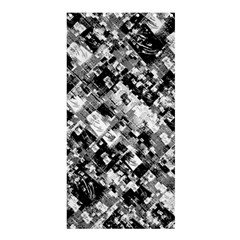Black And White Patchwork Pattern Shower Curtain 36  X 72  (stall)