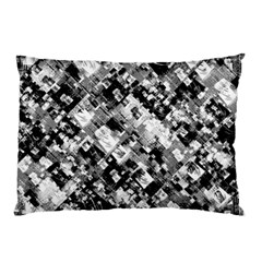 Black And White Patchwork Pattern Pillow Case (two Sides)