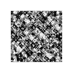 Black And White Patchwork Pattern Acrylic Tangram Puzzle (4  X 4 )