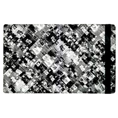 Black And White Patchwork Pattern Apple Ipad 3/4 Flip Case
