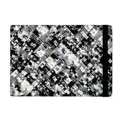 Black And White Patchwork Pattern Apple Ipad Mini Flip Case