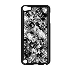 Black And White Patchwork Pattern Apple Ipod Touch 5 Case (black)