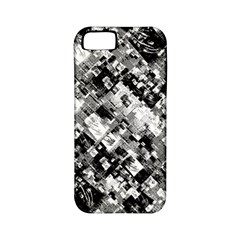 Black And White Patchwork Pattern Apple Iphone 5 Classic Hardshell Case (pc+silicone)