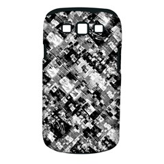 Black And White Patchwork Pattern Samsung Galaxy S Iii Classic Hardshell Case (pc+silicone)