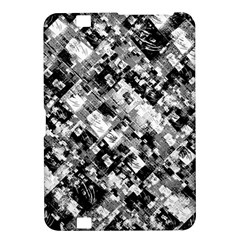 Black And White Patchwork Pattern Kindle Fire Hd 8 9
