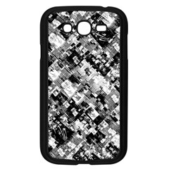 Black And White Patchwork Pattern Samsung Galaxy Grand Duos I9082 Case (black)