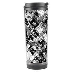 Black And White Patchwork Pattern Travel Tumbler