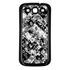 Black And White Patchwork Pattern Samsung Galaxy S3 Back Case (black)