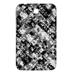 Black And White Patchwork Pattern Samsung Galaxy Tab 3 (7 ) P3200 Hardshell Case