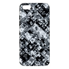 Black And White Patchwork Pattern Iphone 5s/ Se Premium Hardshell Case