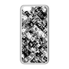 Black And White Patchwork Pattern Apple Iphone 5c Seamless Case (white)