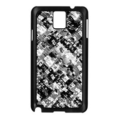 Black And White Patchwork Pattern Samsung Galaxy Note 3 N9005 Case (black)
