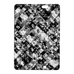 Black And White Patchwork Pattern Kindle Fire Hdx 8 9  Hardshell Case