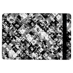 Black And White Patchwork Pattern Ipad Air Flip