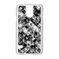 Black And White Patchwork Pattern Samsung Galaxy S5 Case (white)