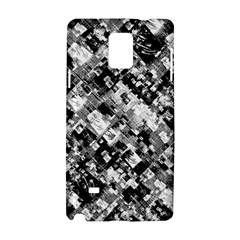 Black And White Patchwork Pattern Samsung Galaxy Note 4 Hardshell Case