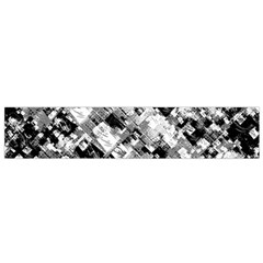 Black And White Patchwork Pattern Small Flano Scarf
