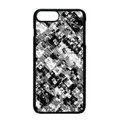 Black And White Patchwork Pattern Apple Iphone 7 Plus Seamless Case (black)