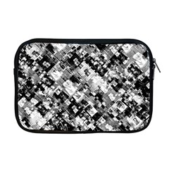 Black And White Patchwork Pattern Apple Macbook Pro 17  Zipper Case