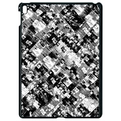 Black And White Patchwork Pattern Apple Ipad Pro 9 7   Black Seamless Case