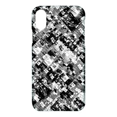 Black And White Patchwork Pattern Apple Iphone X Hardshell Case