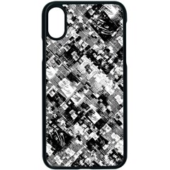 Black And White Patchwork Pattern Apple Iphone X Seamless Case (black)