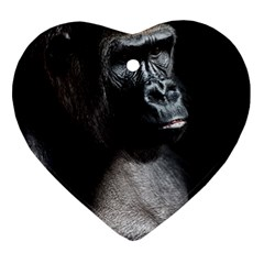 Gorilla Heart Ornament (two Sides)