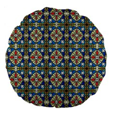 Artwork By Patrick Colorful 42 Large 18  Premium Flano Round Cushions