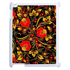 Native Russian Khokhloma Apple Ipad 2 Case (white) by goljakoff