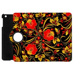 Native Russian Khokhloma Apple Ipad Mini Flip 360 Case