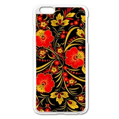 Native Russian Khokhloma Apple Iphone 6 Plus/6s Plus Enamel White Case