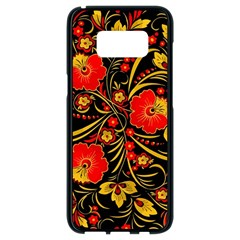 Native Russian Khokhloma Samsung Galaxy S8 Black Seamless Case by goljakoff