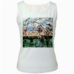 Blooming Tree 2 Women s White Tank Top by bestdesignintheworld