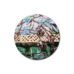 Blooming Tree 2 Rubber Round Coaster (4 Pack)