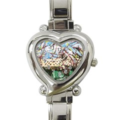 Blooming Tree 2 Heart Italian Charm Watch