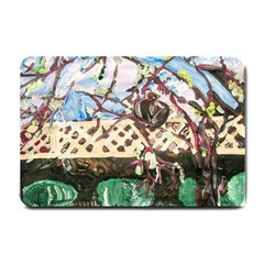 Blooming Tree 2 Small Doormat  by bestdesignintheworld