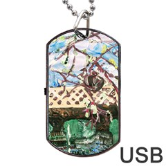 Blooming Tree 2 Dog Tag Usb Flash (one Side)