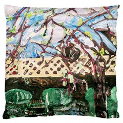 Blooming Tree 2 Large Flano Cushion Case (two Sides)
