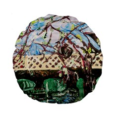 Blooming Tree 2 Standard 15  Premium Flano Round Cushions by bestdesignintheworld
