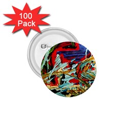 Blue Flamingoes 6 1 75  Buttons (100 Pack)