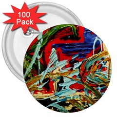 Blue Flamingoes 6 3  Buttons (100 Pack)