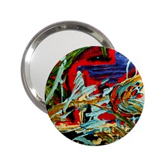 Blue Flamingoes 6 2 25  Handbag Mirrors by bestdesignintheworld