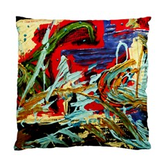Blue Flamingoes 6 Standard Cushion Case (two Sides)
